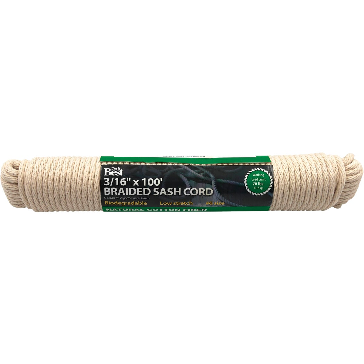 #6 100' COTTON SASH CORD