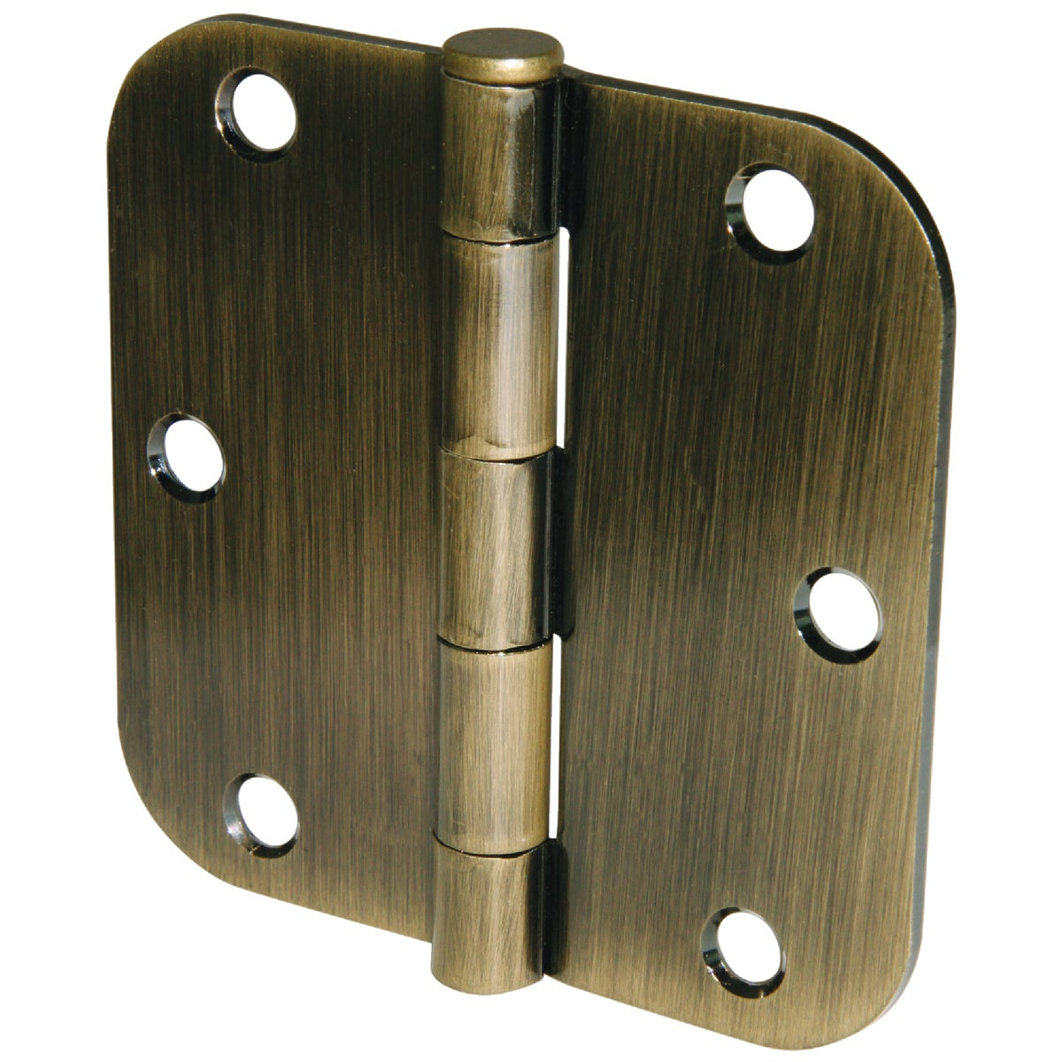 "3.5"" 5/8RAD AB 3PK HINGE - 61743 by Ultra Hardware"