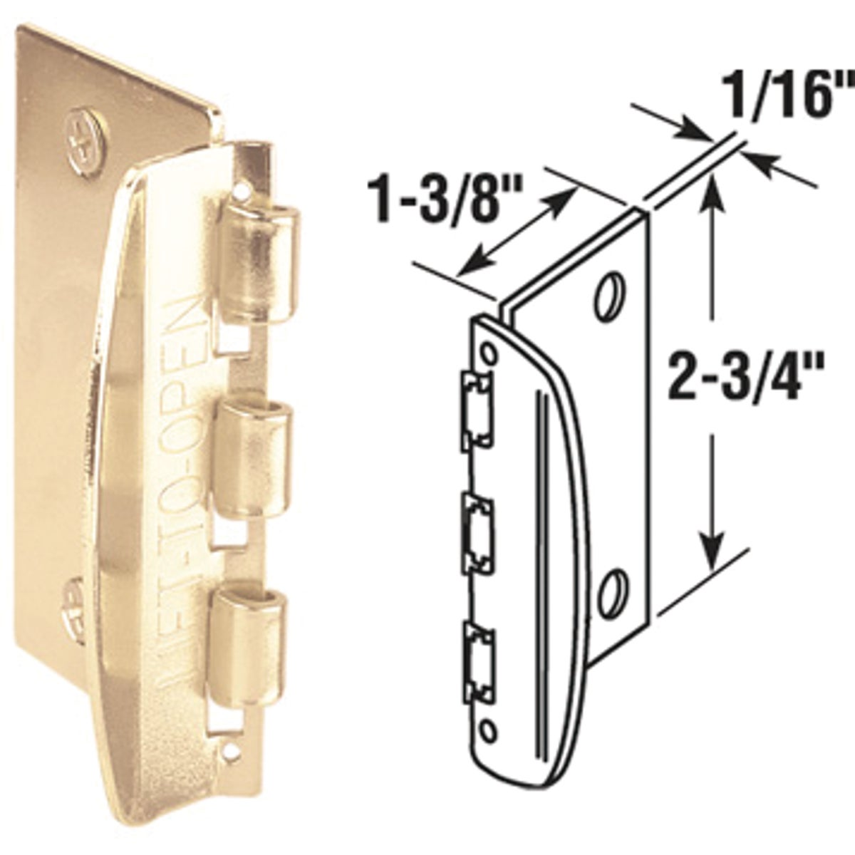 FLIP OVER DOOR LOCK - U 9887 by Prime Line Products