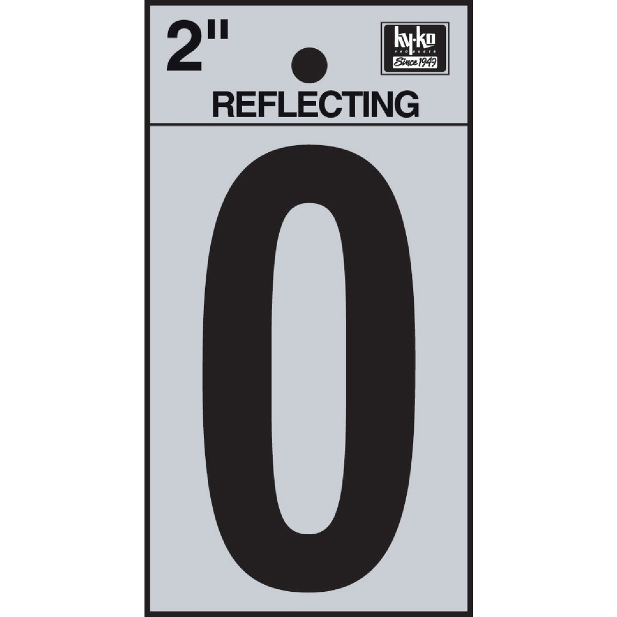 "2"" REFLECT NUMBER 0 - RV-25/0 by Hy Ko Prods Co"