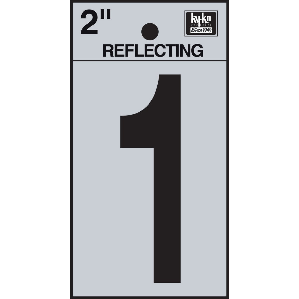 "2"" REFLECT NUMBER 1 - RV-25/1 by Hy Ko Prods Co"