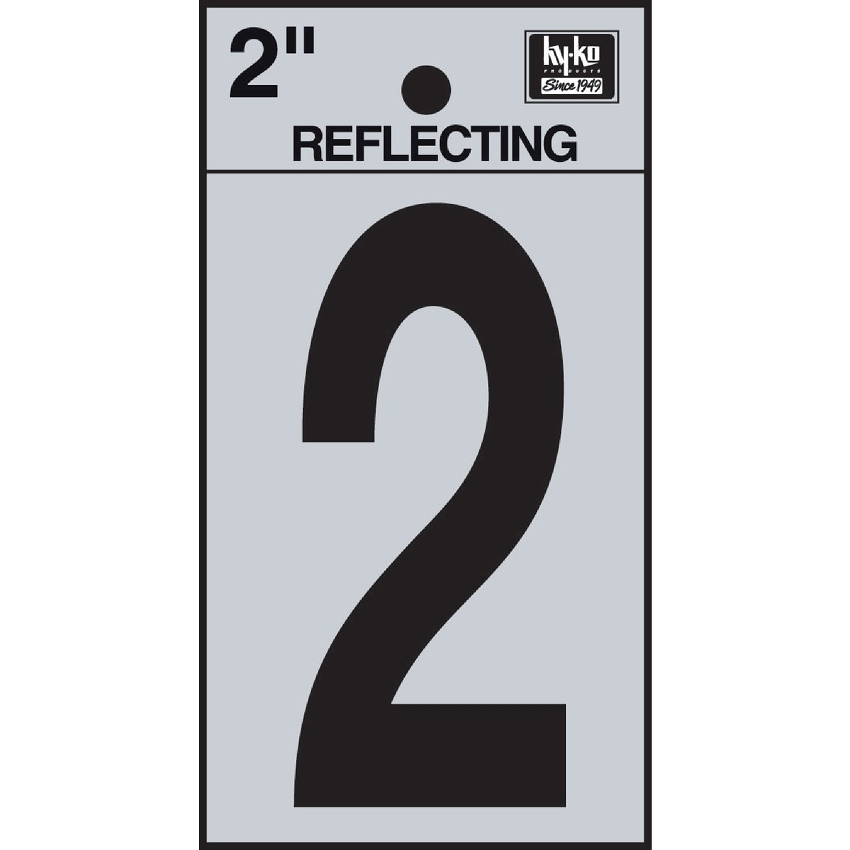 "2"" REFLECT NUMBER 2 - RV-25/2 by Hy Ko Prods Co"