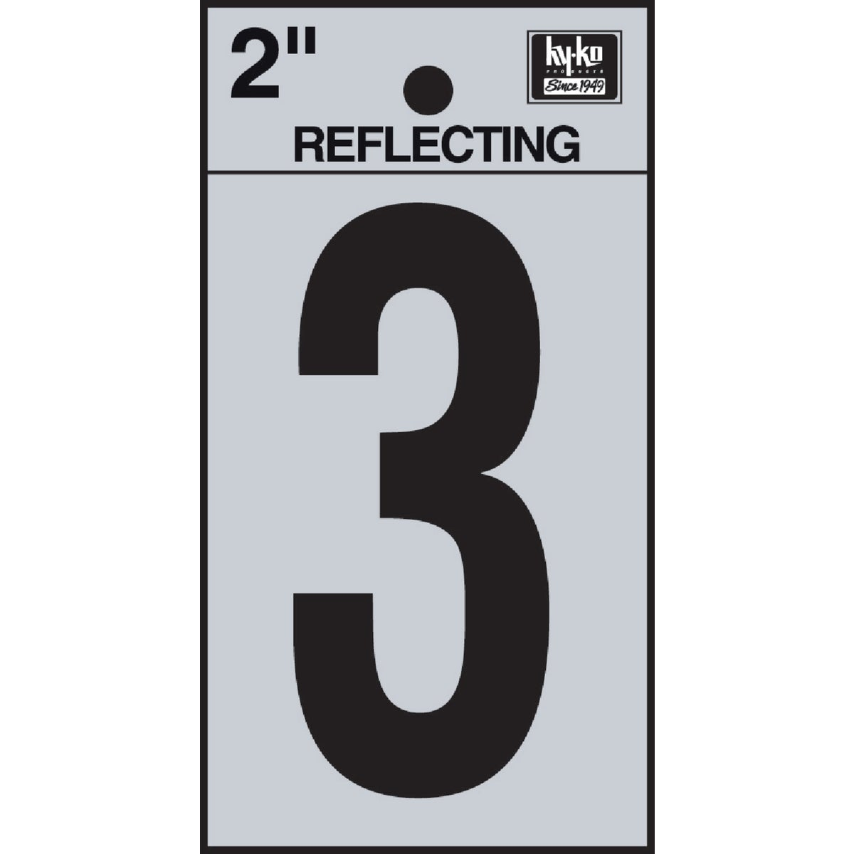 "2"" REFLECT NUMBER 3 - RV-25/3 by Hy Ko Prods Co"