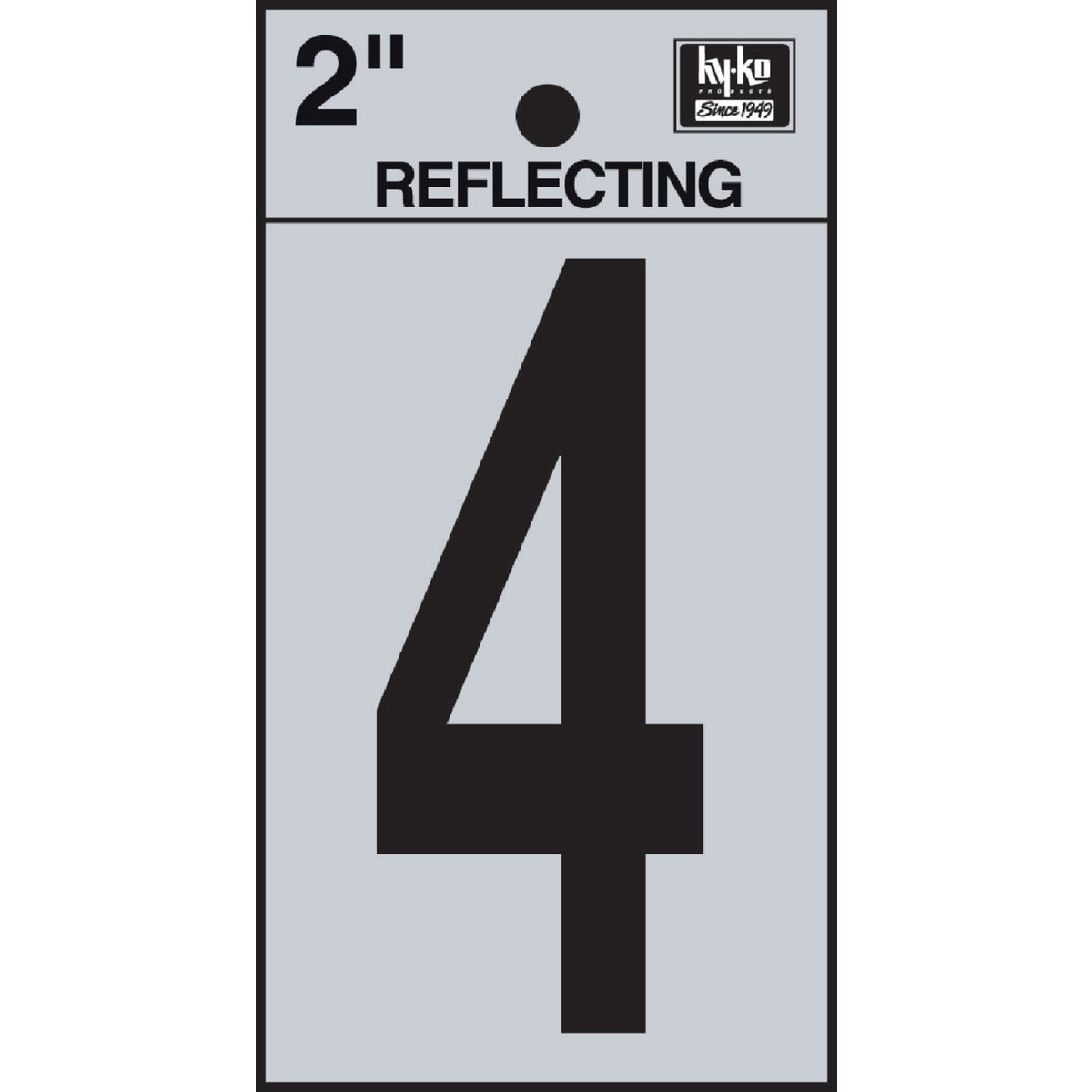"2"" REFLECT NUMBER 4 - RV-25/4 by Hy Ko Prods Co"