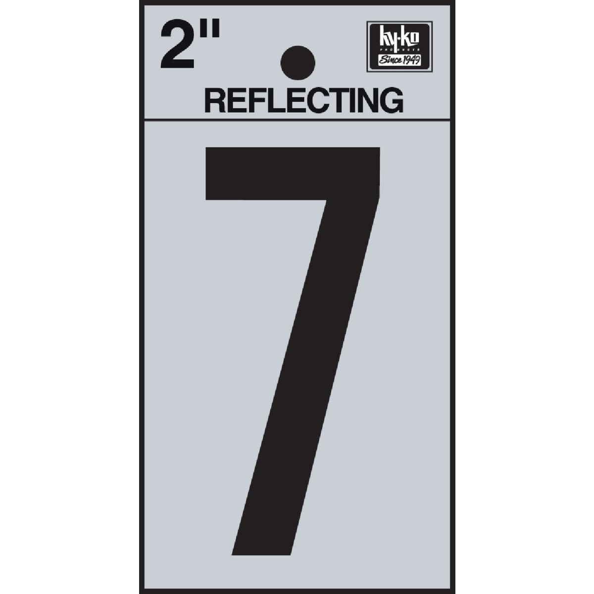 "2"" REFLECT NUMBER 7 - RV-25/7 by Hy Ko Prods Co"