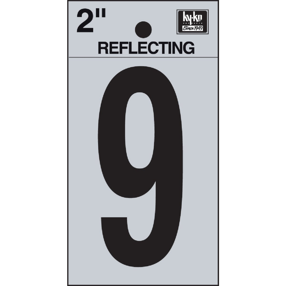 "2"" REFLECT NUMBER 9 - RV-25/9 by Hy Ko Prods Co"