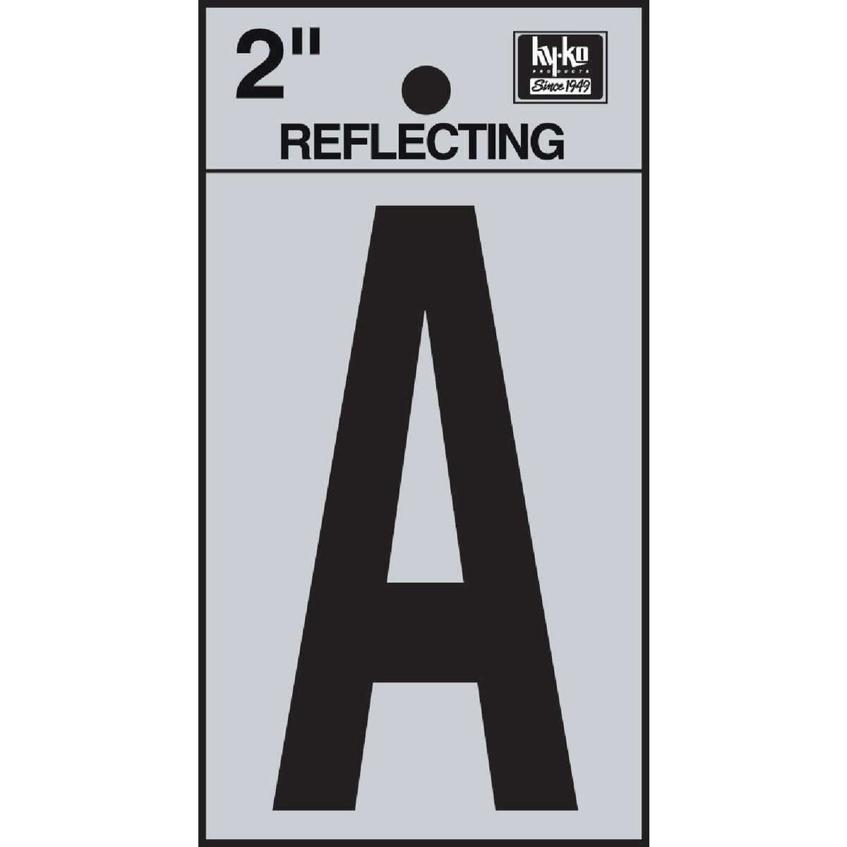 "2"" REFLECT LETTER A - RV-25/A by Hy Ko Prods Co"