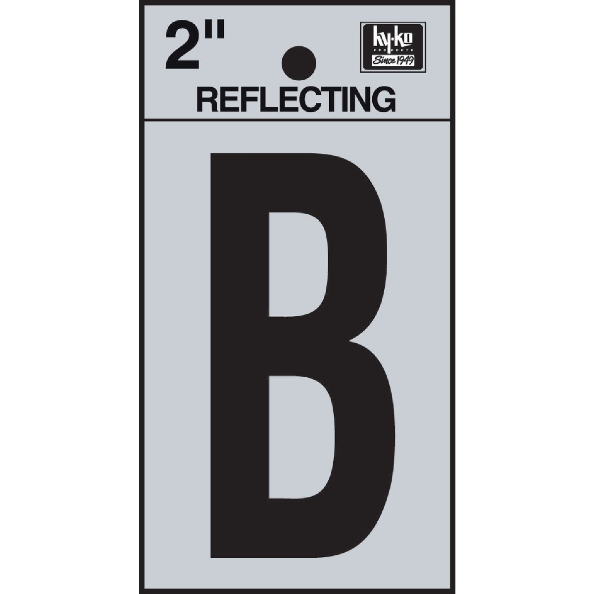 "2"" REFLECT LETTER B - RV-25/B by Hy Ko Prods Co"