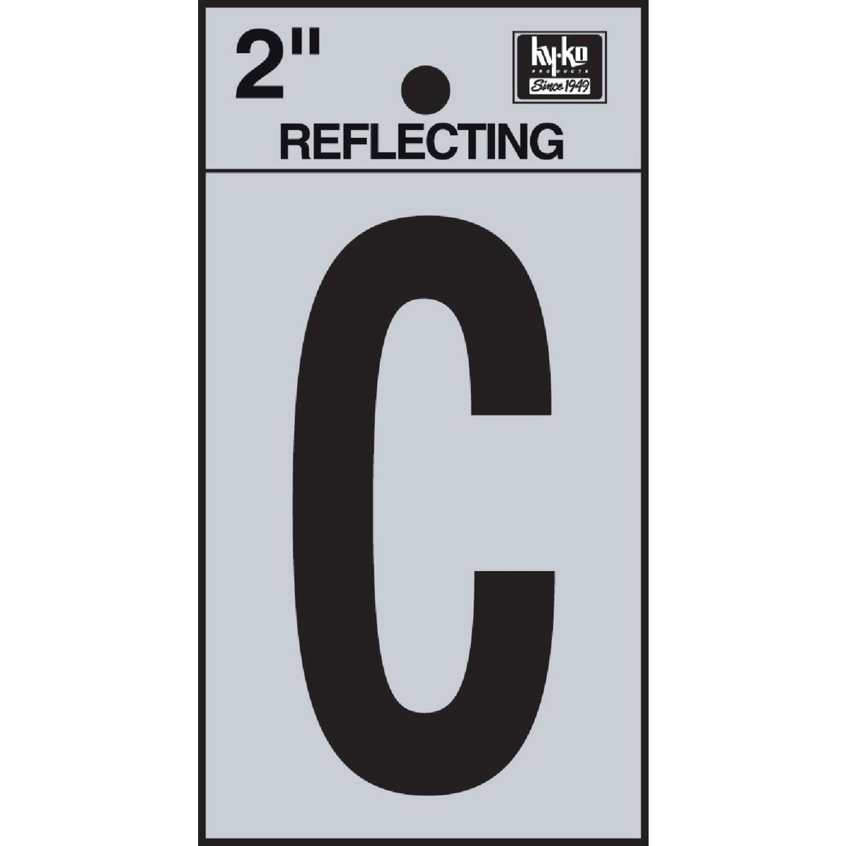 "2"" REFLECT LETTER C - RV-25/C by Hy Ko Prods Co"