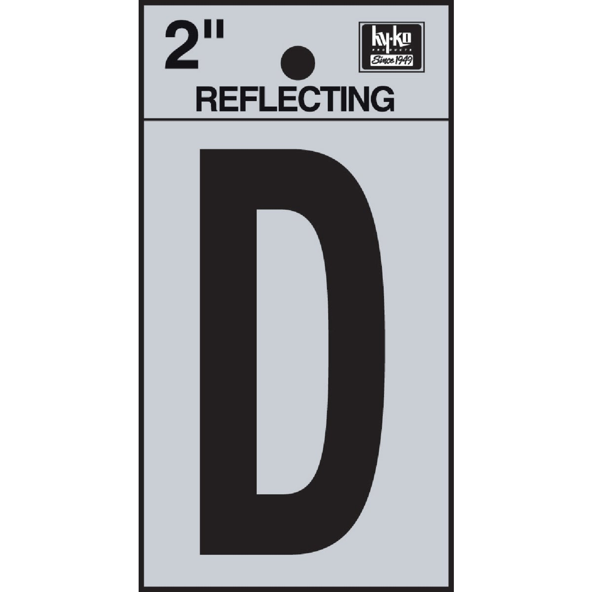 "2"" REFLECT LETTER D - RV-25/D by Hy Ko Prods Co"