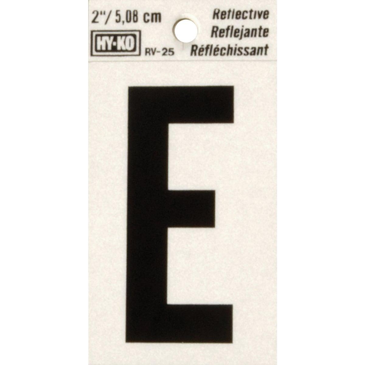 "2"" REFLECT LETTER E"