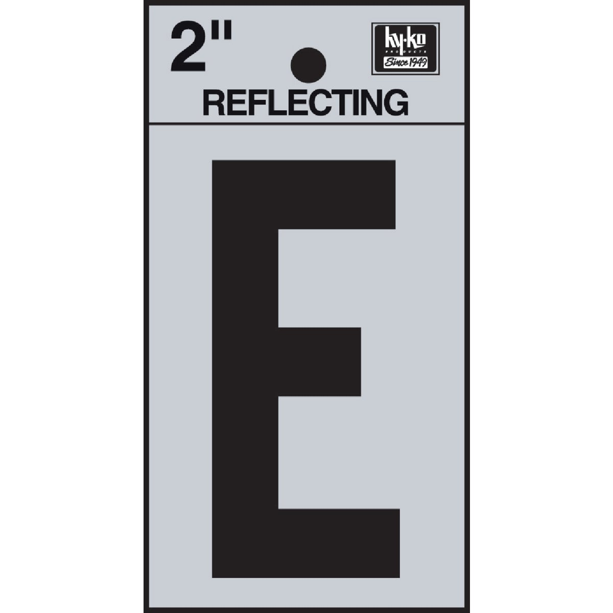 "2"" REFLECT LETTER E - RV-25/E by Hy Ko Prods Co"