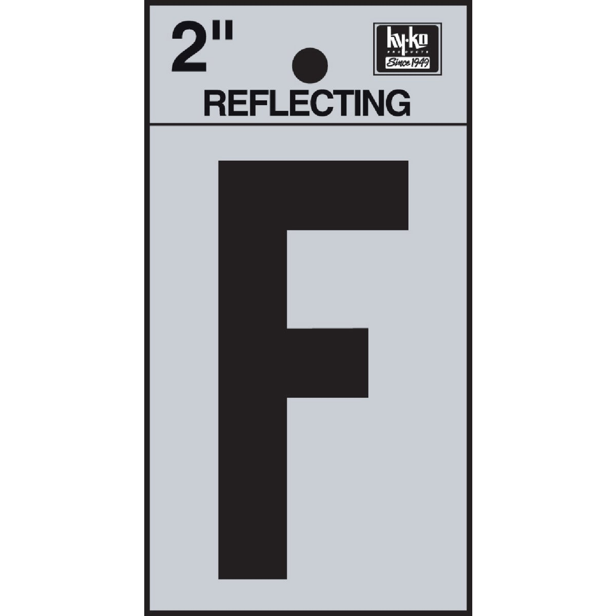 "2"" REFLECT LETTER F - RV-25/F by Hy Ko Prods Co"