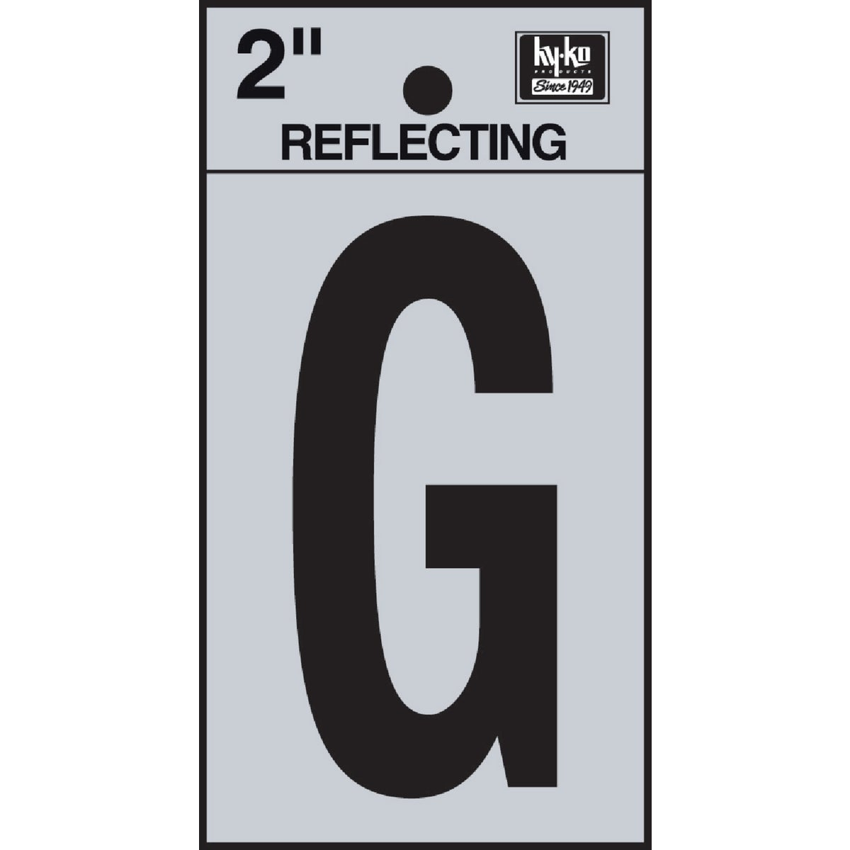"2"" REFLECT LETTER G - RV-25/G by Hy Ko Prods Co"