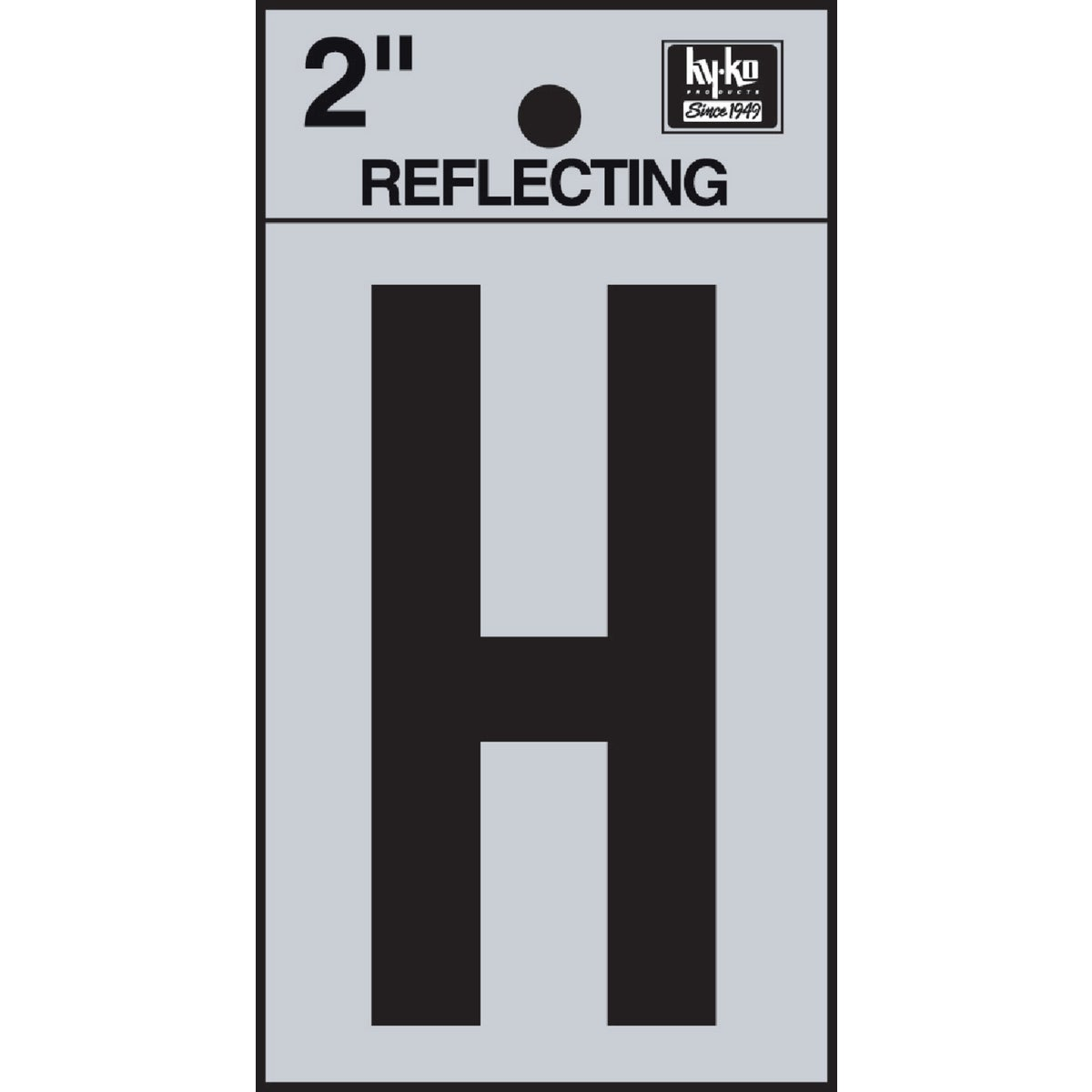 "2"" REFLECT LETTER H - RV-25/H by Hy Ko Prods Co"