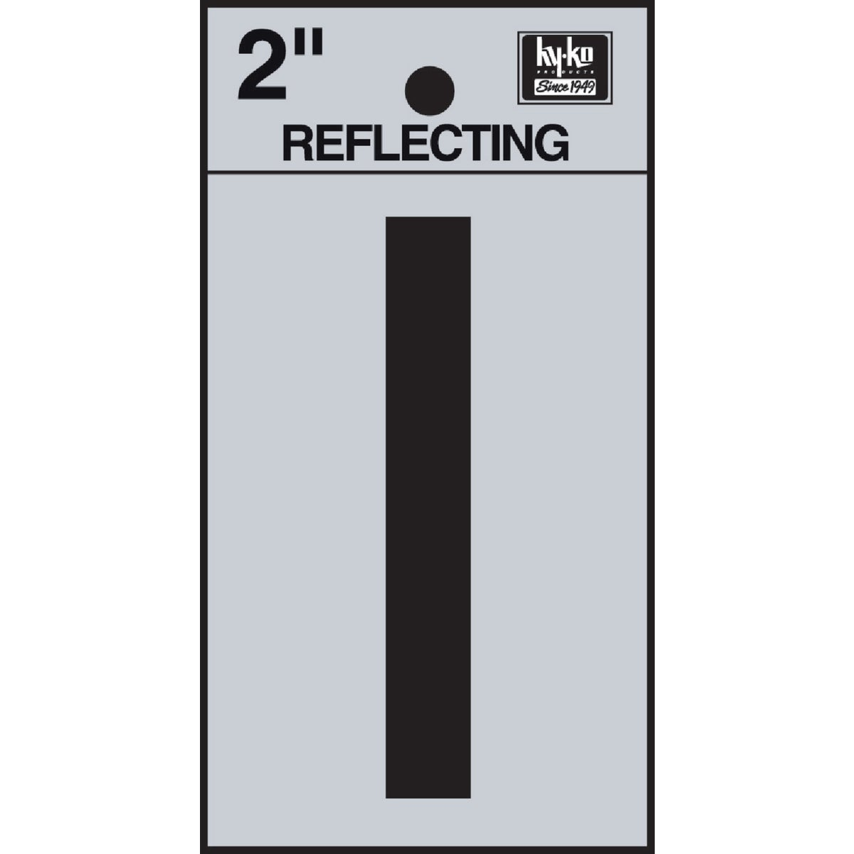 "2"" REFLECT LETTER I - RV-25/I by Hy Ko Prods Co"