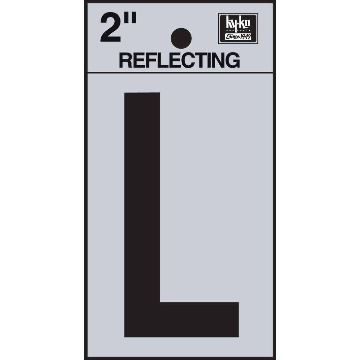 "2"" REFLECT LETTER L - RV-25/L by Hy Ko Prods Co"