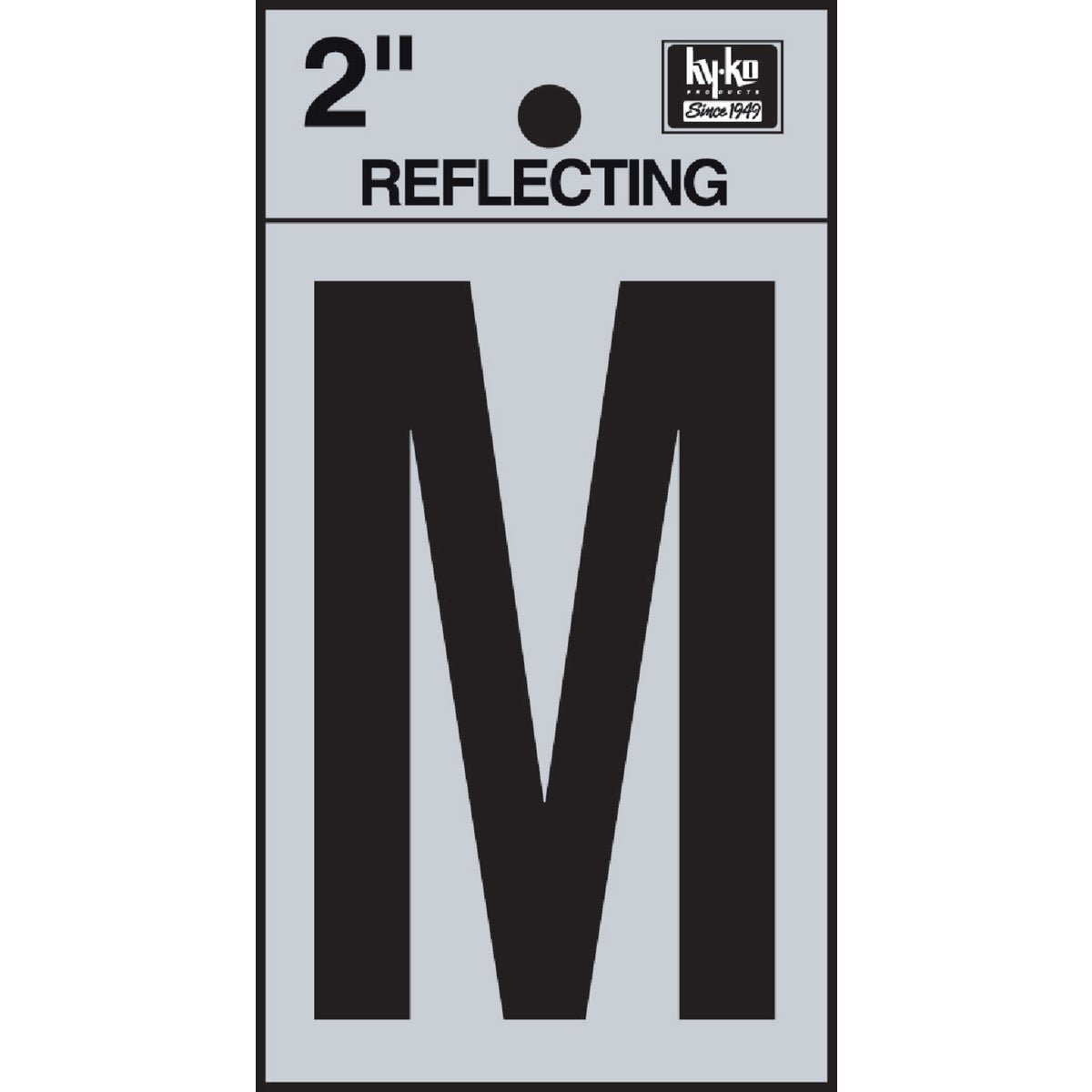 "2"" REFLECT LETTER M - RV-25/M by Hy Ko Prods Co"