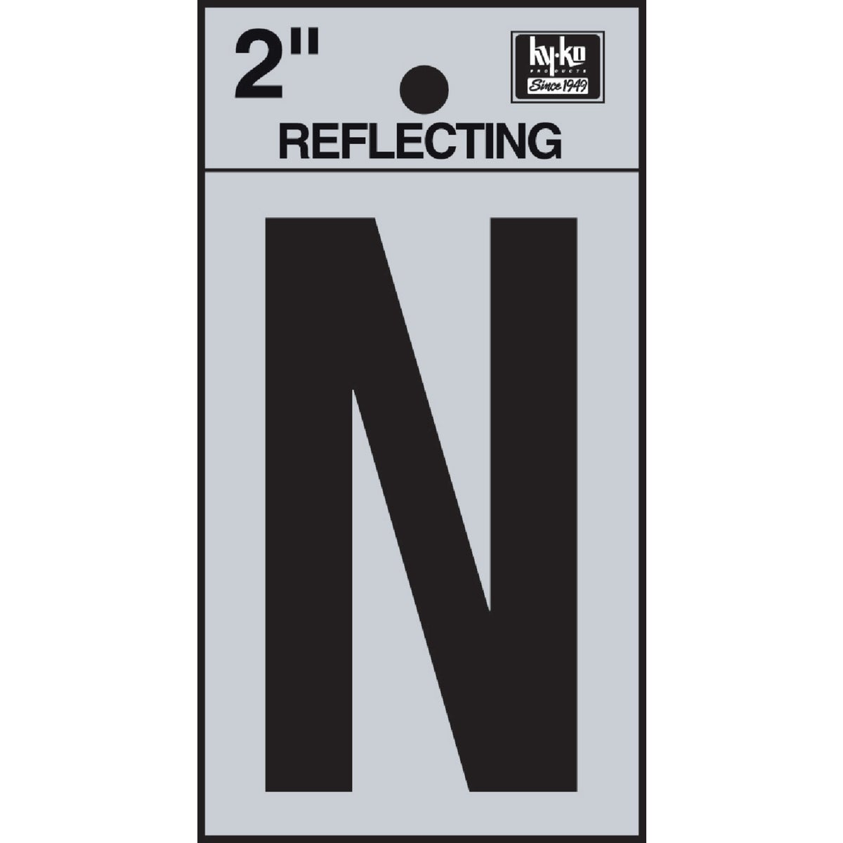 "2"" REFLECT LETTER N - RV-25/N by Hy Ko Prods Co"