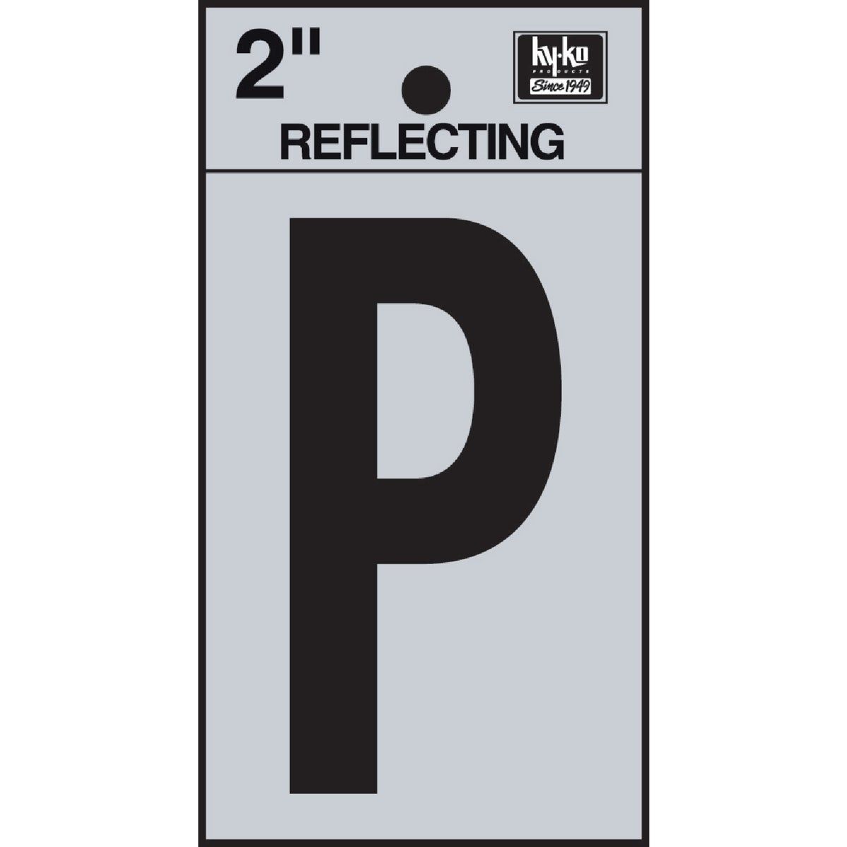 "2"" REFLECT LETTER P - RV-25/P by Hy Ko Prods Co"