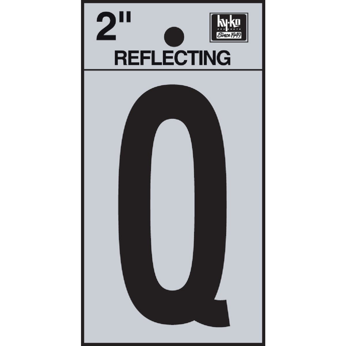 "2"" REFLECT LETTER Q - RV-25/Q by Hy Ko Prods Co"