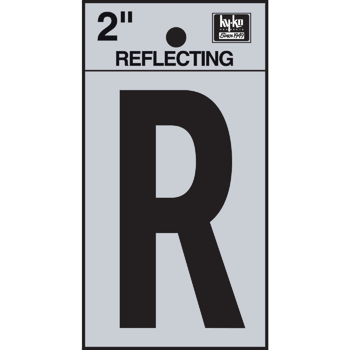 "2"" REFLECT LETTER R - RV-25/R by Hy Ko Prods Co"