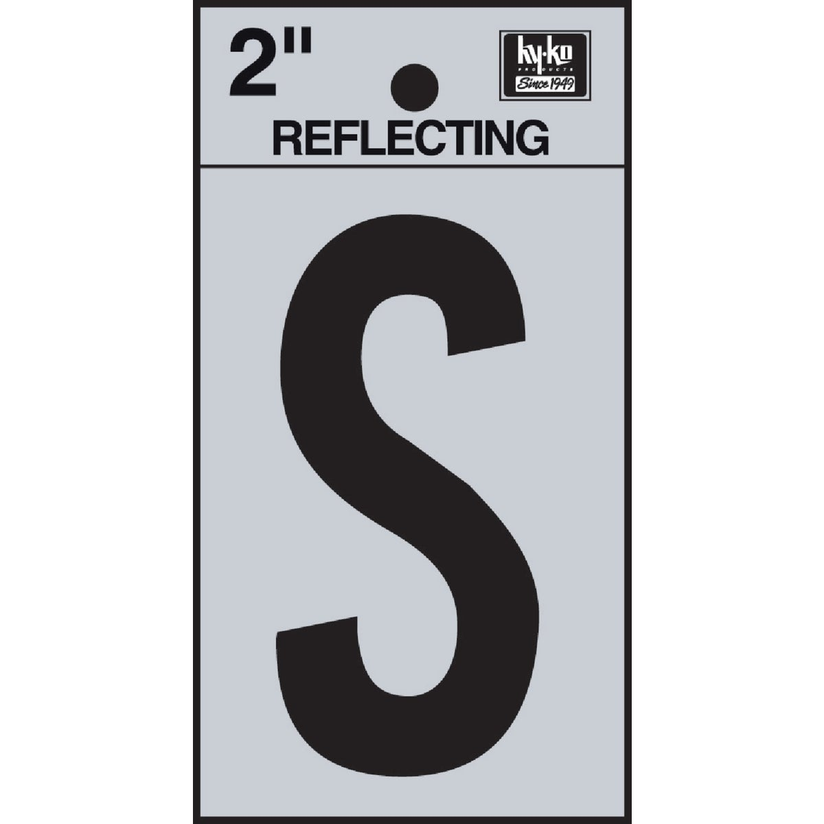 "2"" REFLECT LETTER S - RV-25/S by Hy Ko Prods Co"