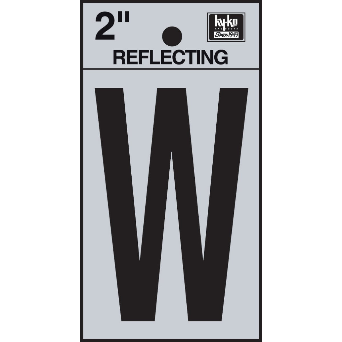 "2"" REFLECT LETTER W - RV-25/W by Hy Ko Prods Co"
