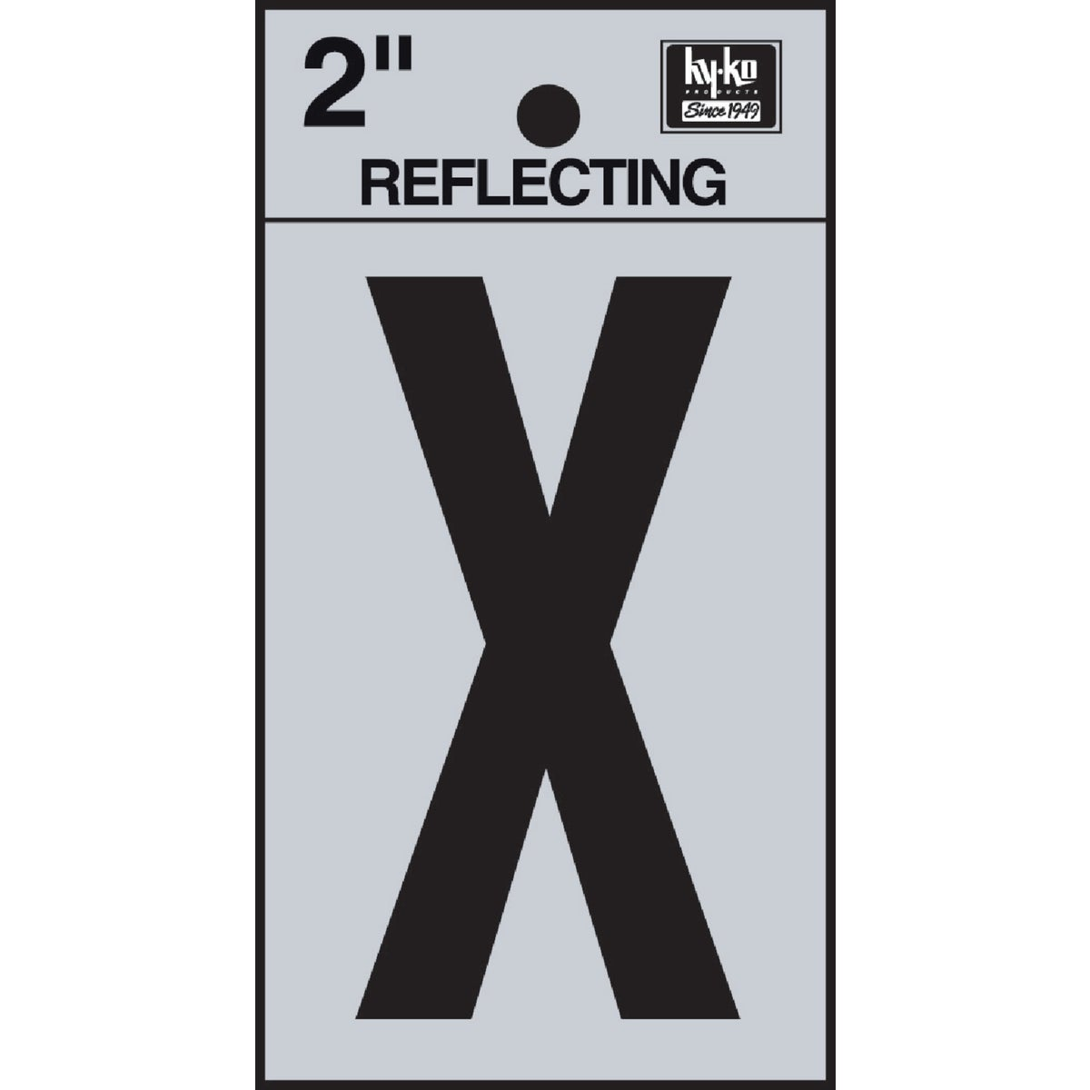 "2"" REFLECT LETTER X - RV-25/X by Hy Ko Prods Co"
