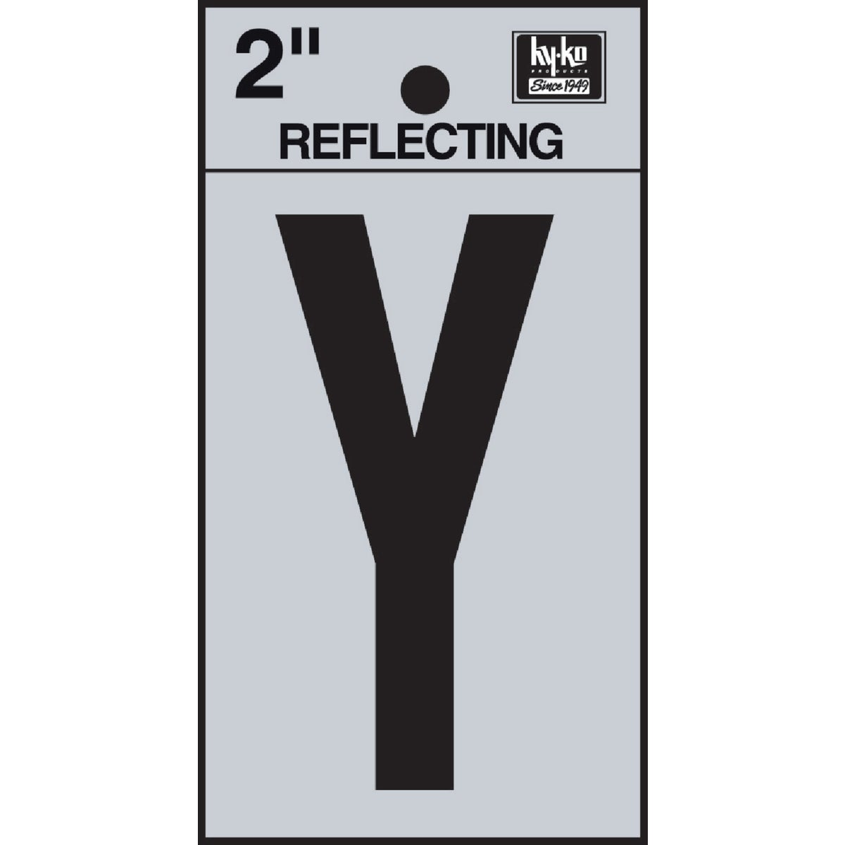 "2"" REFLECT LETTER Y - RV-25/Y by Hy Ko Prods Co"