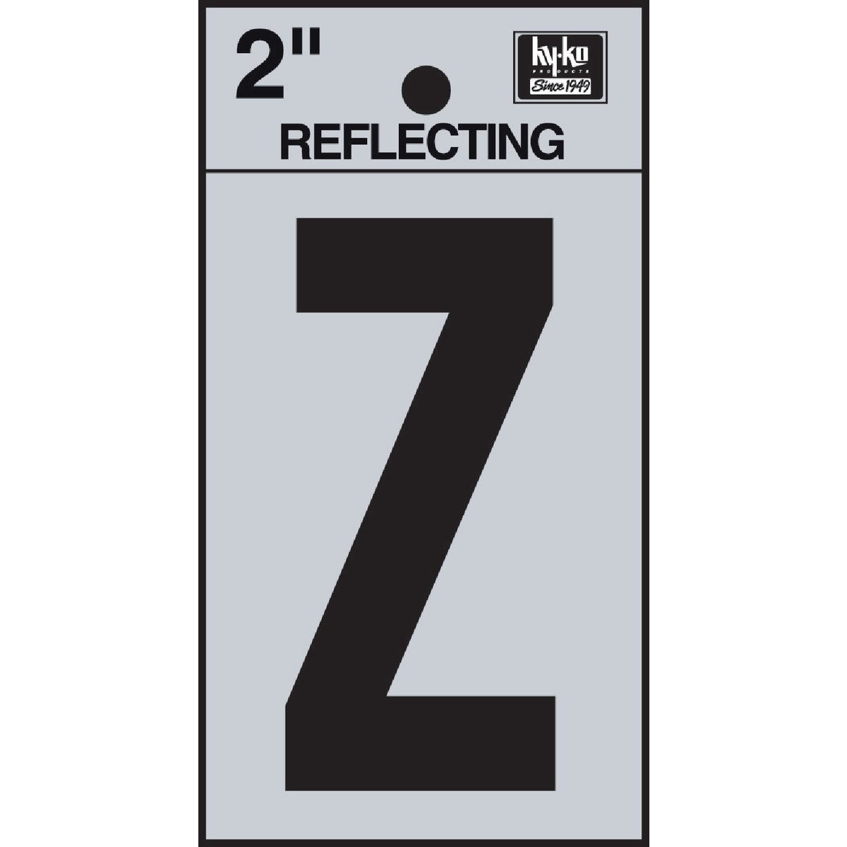 "2"" REFLECT LETTER Z - RV-25/Z by Hy Ko Prods Co"