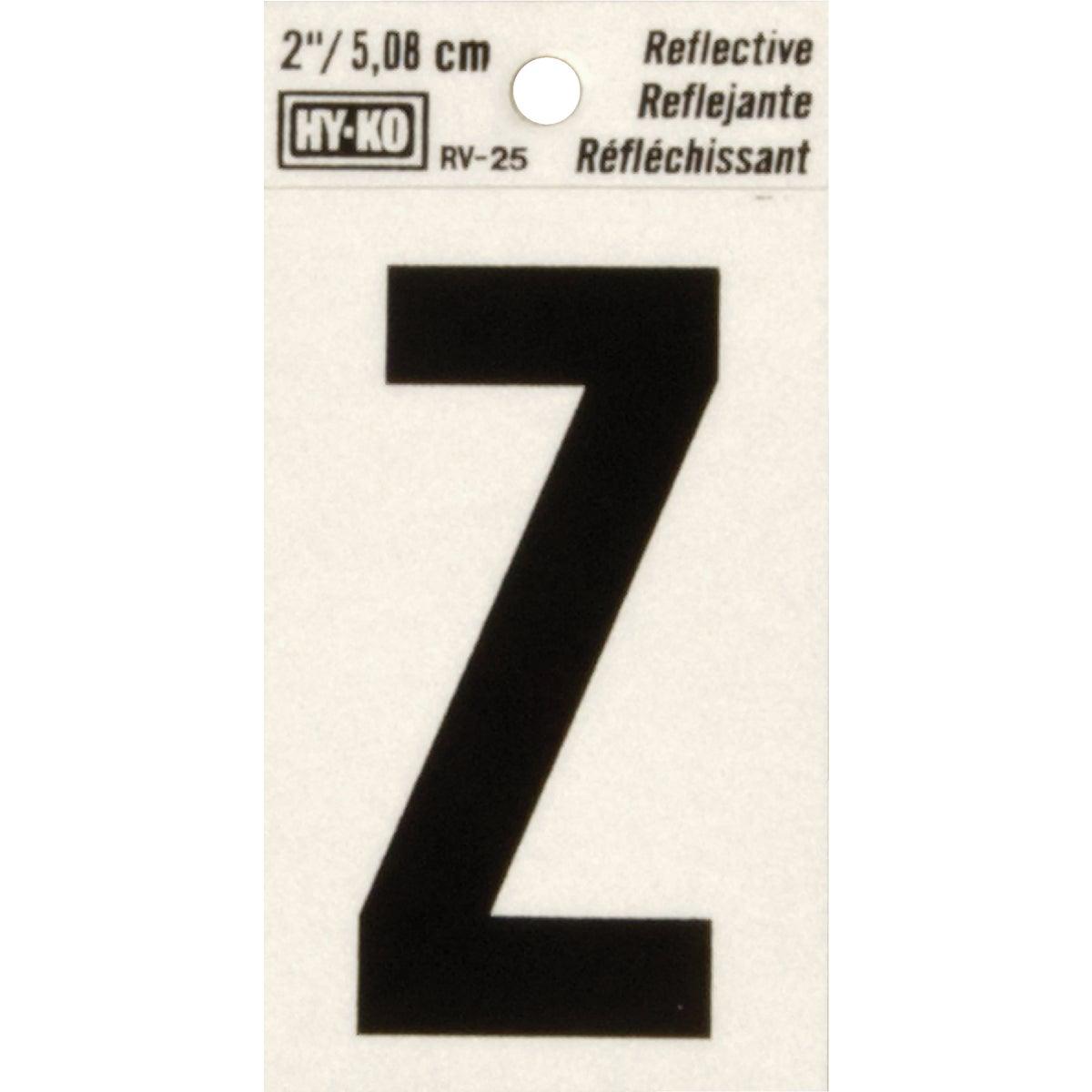 """2"""" REFLECT LETTER Z - RV-25/Z by Hy Ko Prods Co"""