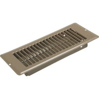 United States Hdwe. 4X10 BRN FLOOR REGISTER V-057IB