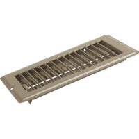 United States Hdwe. 4X8 BRN FLOOR REGISTER V-102B