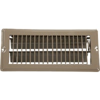 United States Hdwe. 4X10 BRN FLOOR REGISTER V-103B