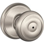 Schlage F40NGEO619 Georgian Privacy Door Handle Satin Nickel