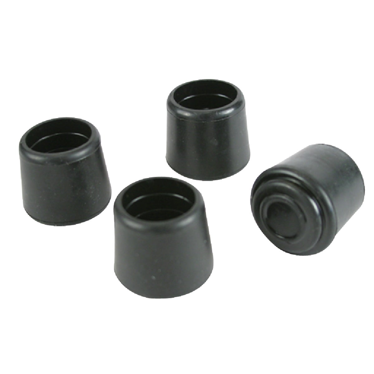 "1"" BLK RUBBER TIPS - 97484 by Magic Sliders"