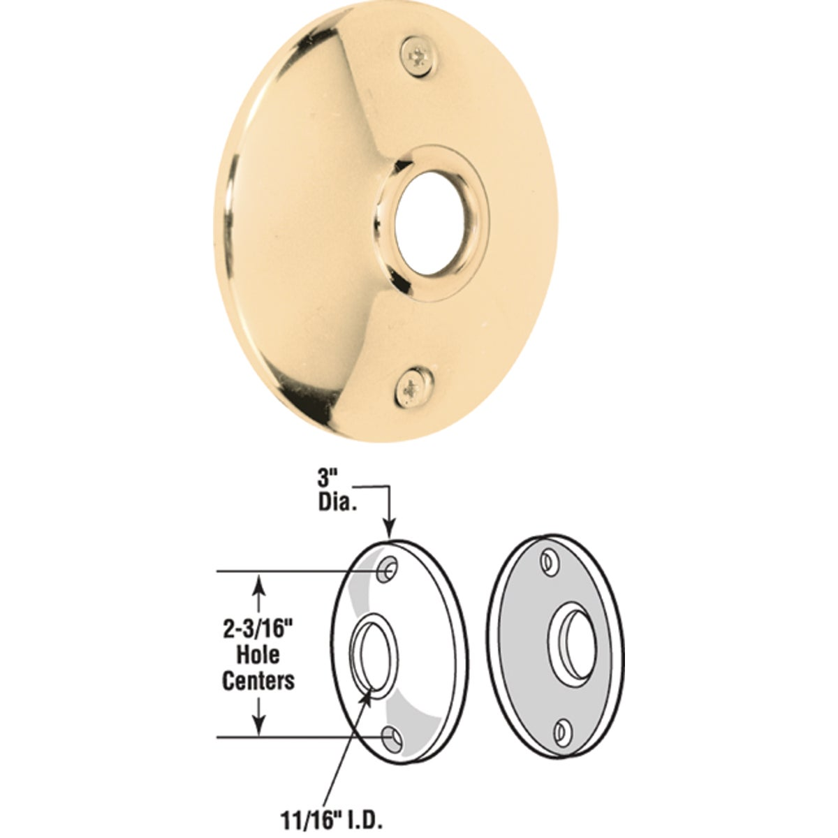 BRS ROSSETTE DOOR KNOB - E 2296 by Prime Line Products