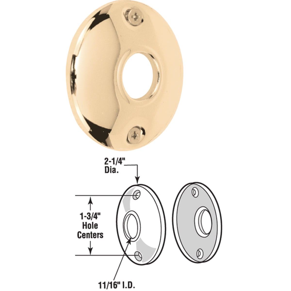 ROSSETTE BRASS PLATE - E 2282 by Prime Line Products