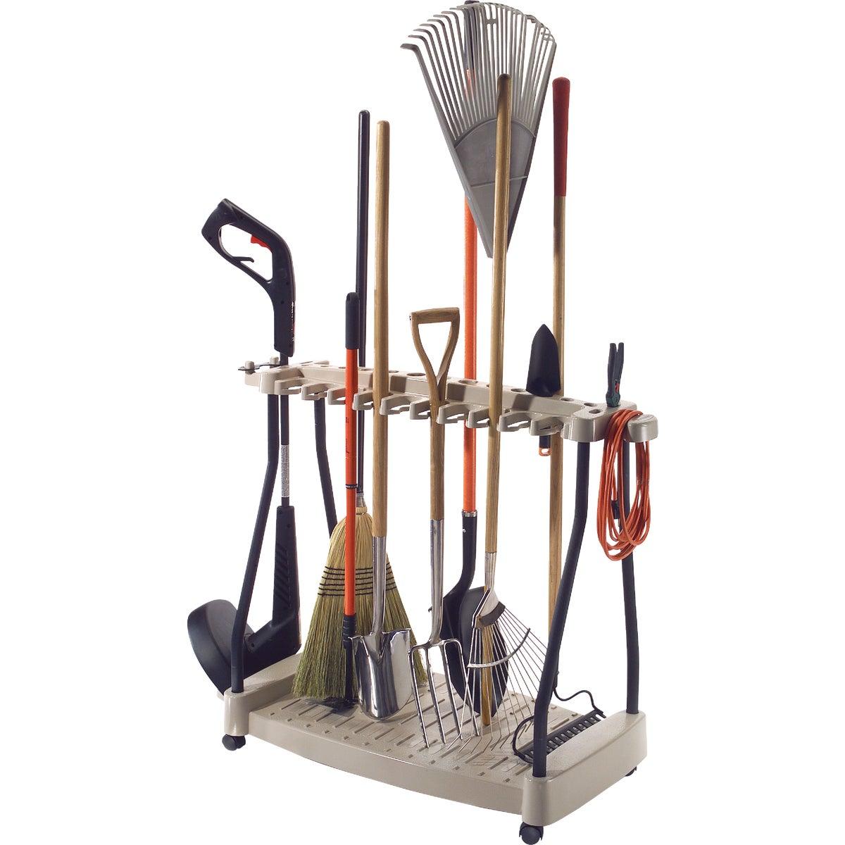 Suncast Long Handle Tool Rack With Wheels, RTC1000