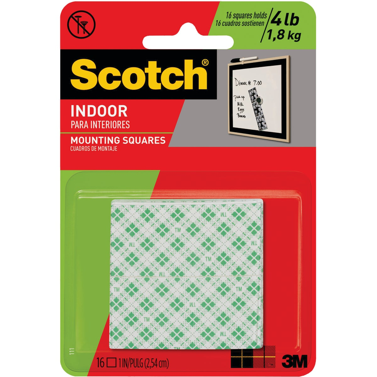 "1"" MOUNTING SQUARES - 111DC by 3m Co"