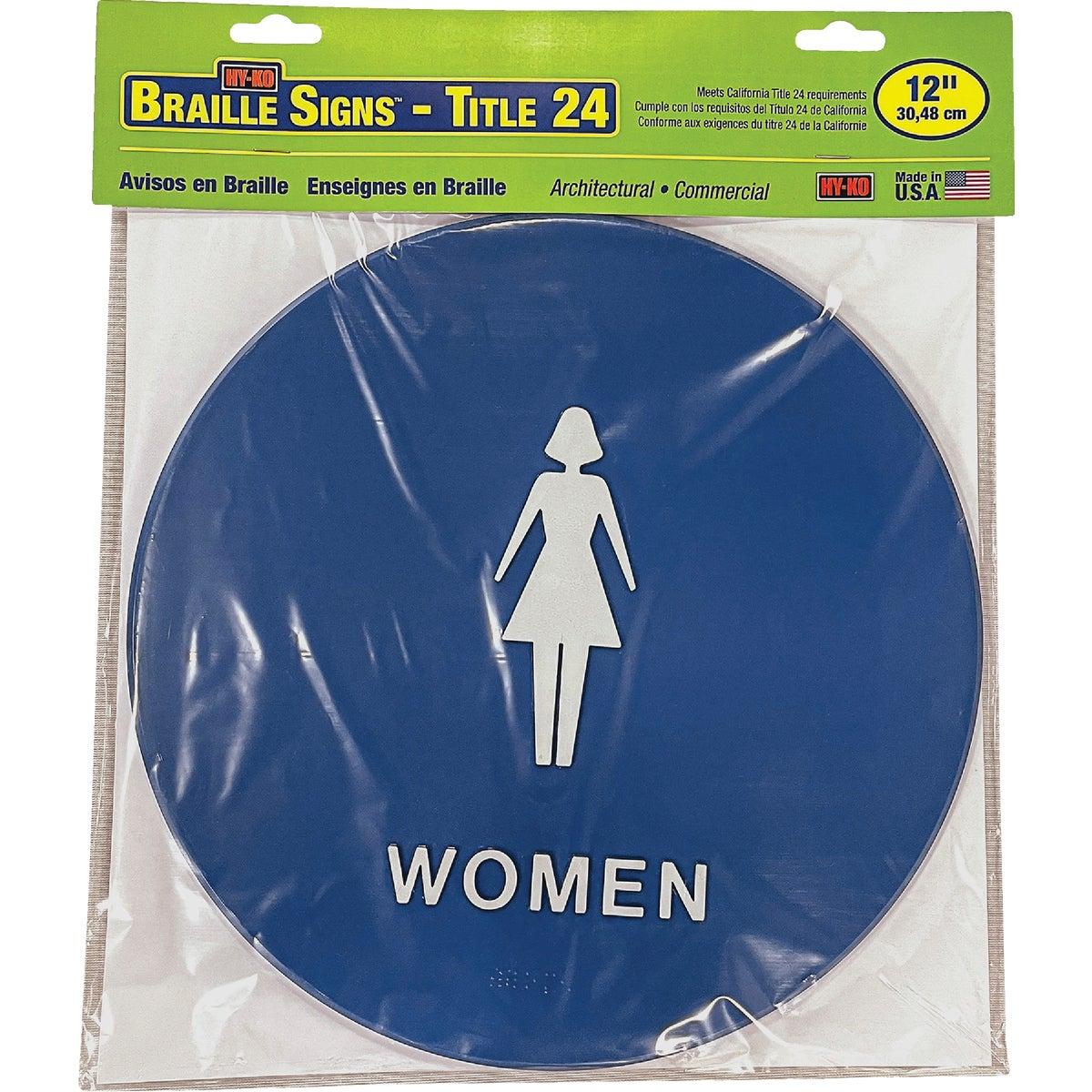WOMEN BLUE ROUND SIGN