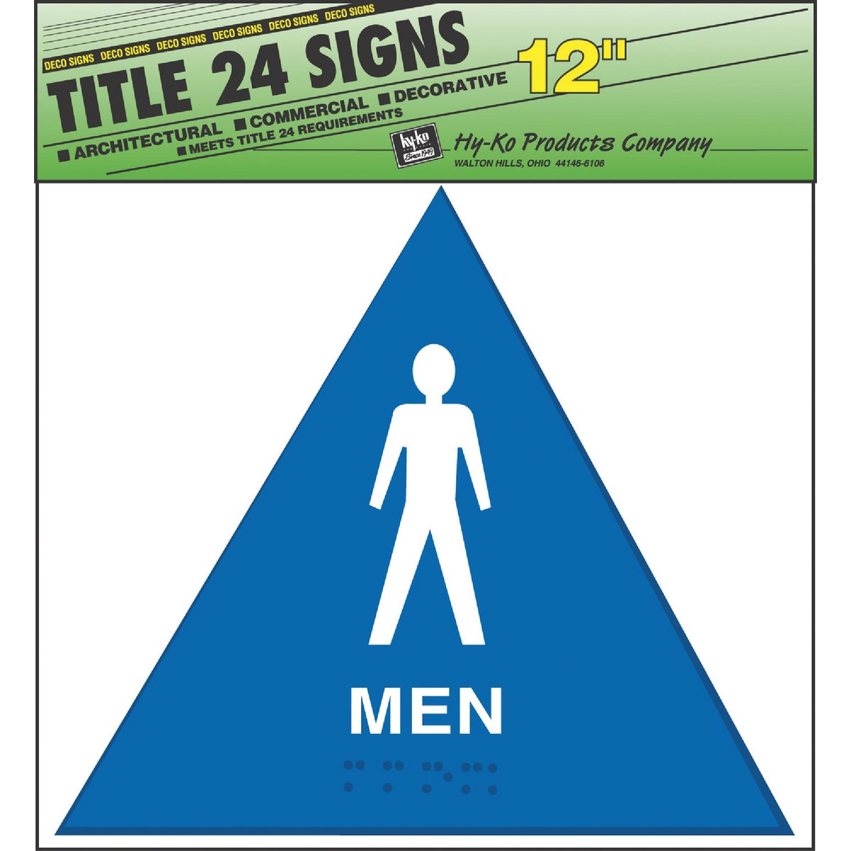 MEN BLUE TRIANGLE SIGN - T-24M by Hy Ko Prods Co