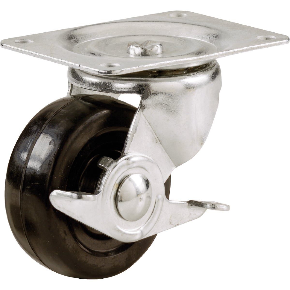 "2-1/2"" CASTER W/BRAKE - 9510 by Shepherd Hardware"