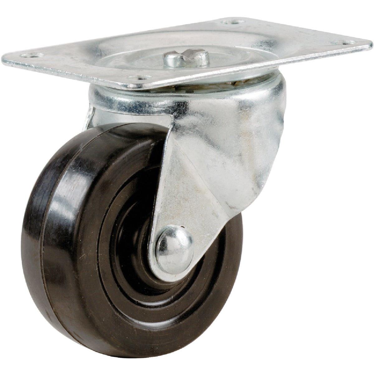 "3"" RUBBER SWIVEL CASTER - 9479 by Shepherd Hardware"