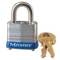 Master Lock 1-1/8 In. Wide 4-Pin Tumbler Padlock, 7KA P394