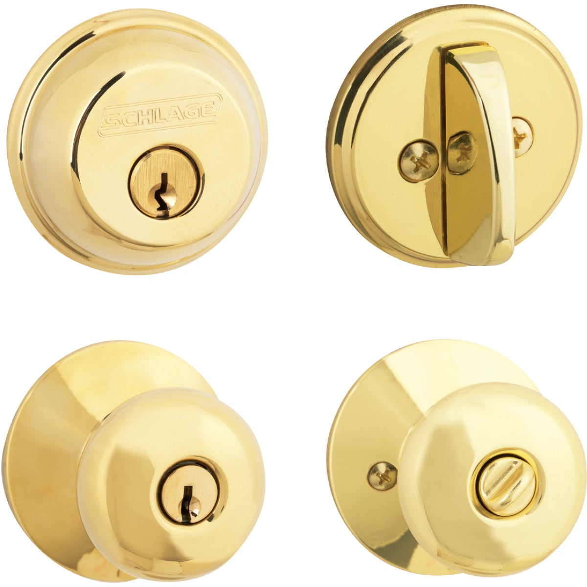 PB PLYMOUTH COMBO LOCK - FB50NVPLY505 by Schlage Lock Co