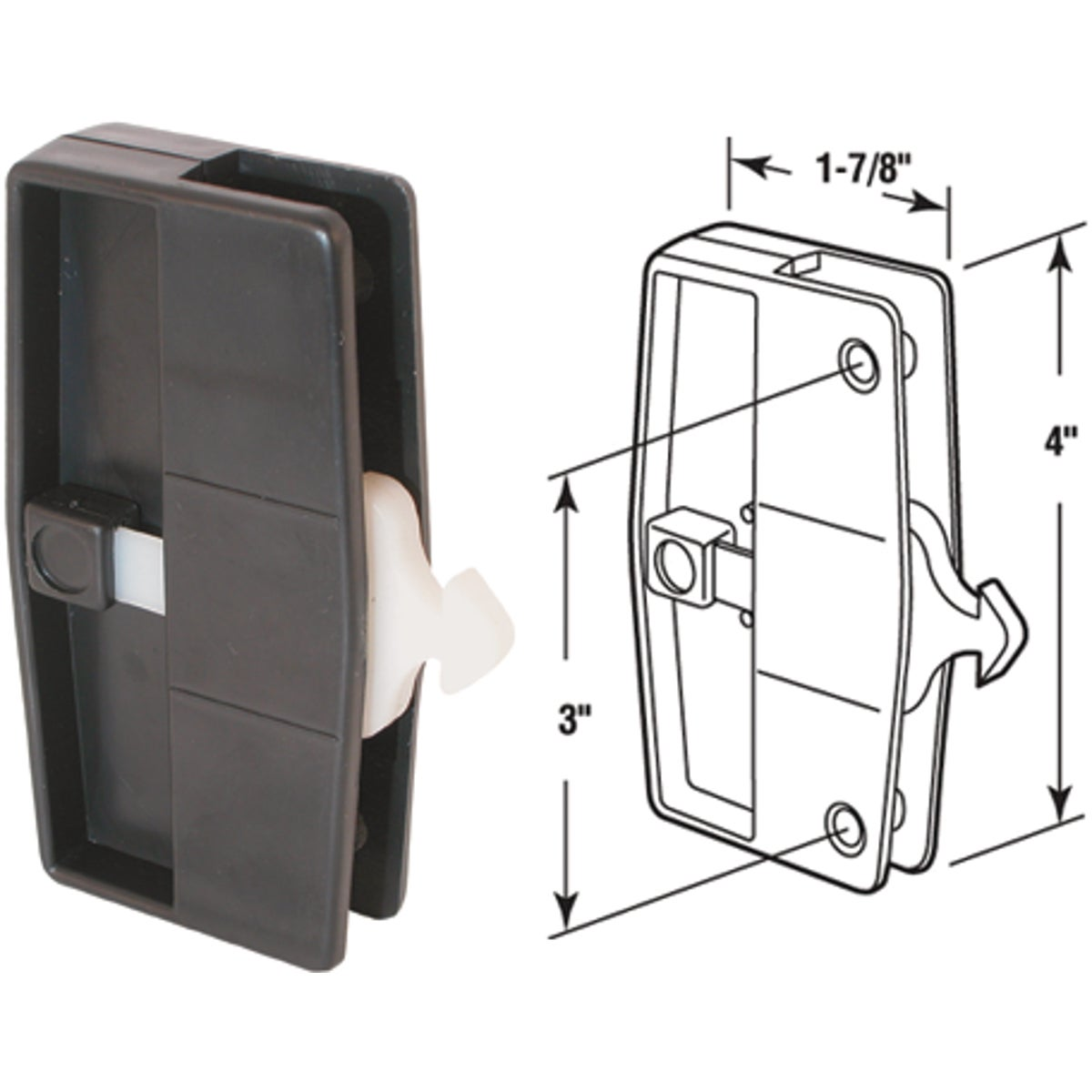 SCREEN LOCKING HANDLE - 12550 by Prime Line Products