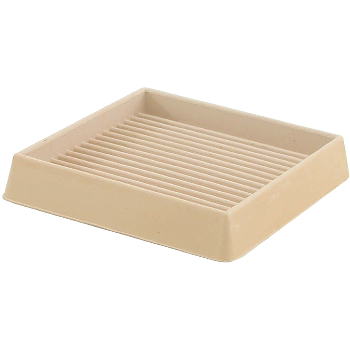 "3X3""SQ ALMOND RUBBER CUP - 227631 by Shepherd Hardware"