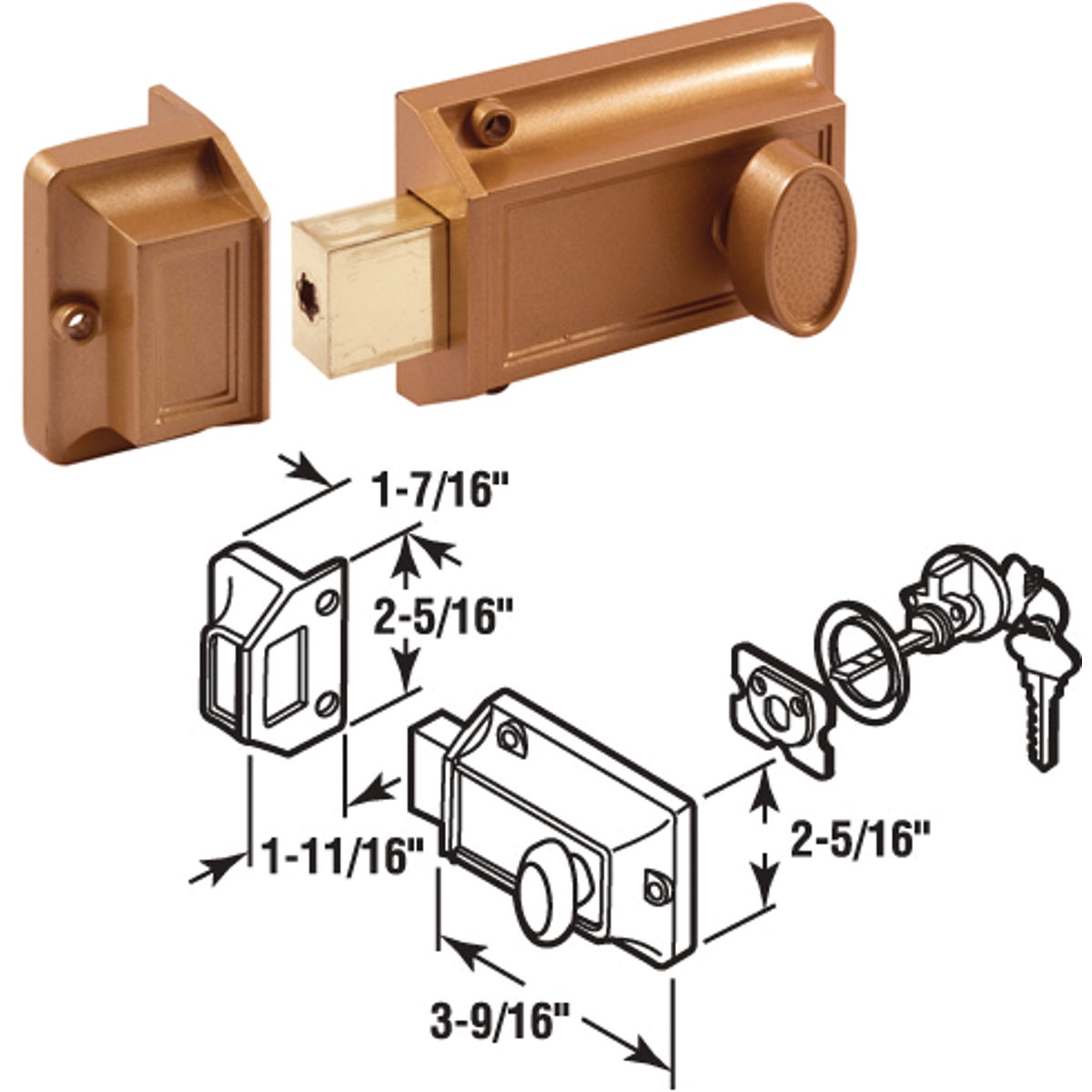 SINGLE RIM DEADLOCK - U 9956 by Prime Line Products